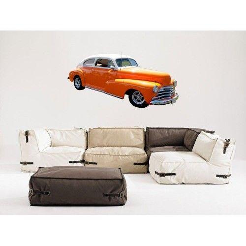 140x73cm DUVAR STİCKER- Klasik Araba 333509