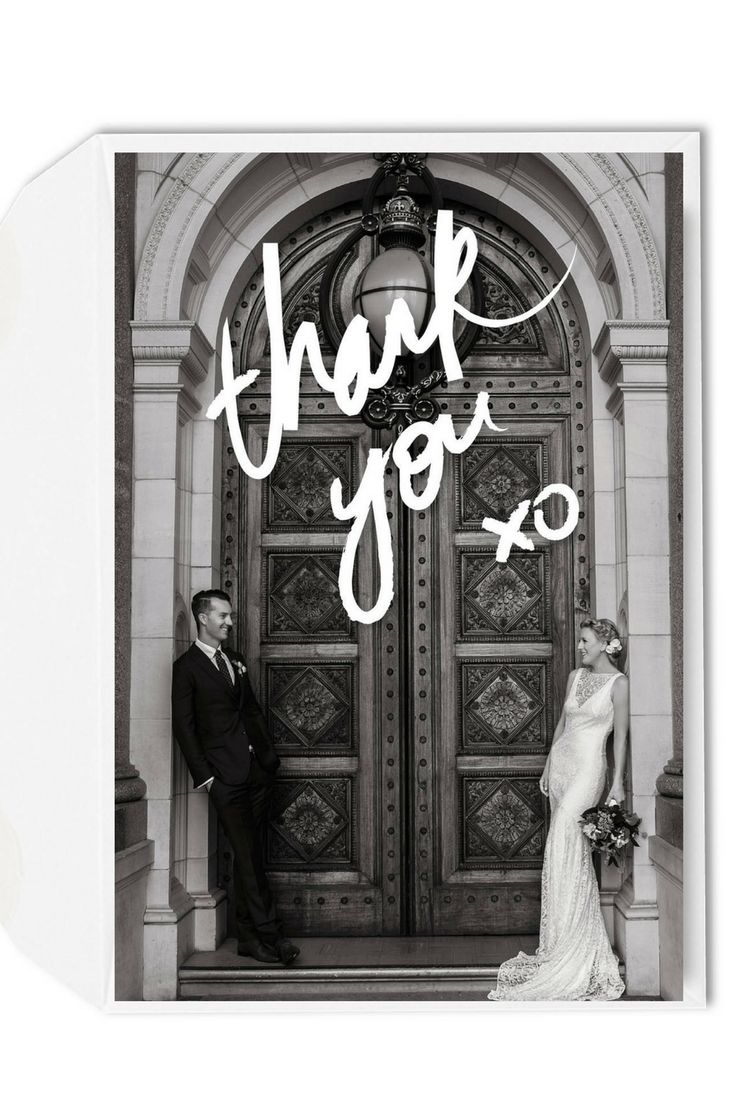 Wedding Thank You XO Card | Photo Wedding Thank You Cards | Black & White Photography | Wedding Photography  | Emma Wise Photography | For the Love of Stationery