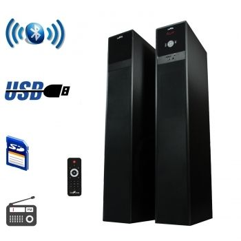 beFree Sound Bluetooth Tower Speakers with optical input