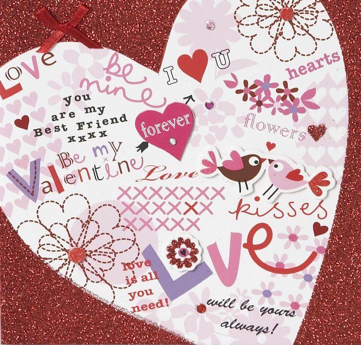 В день святого валентина подписать открытку