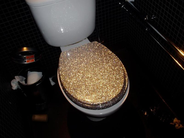 Gold Glitter Toilet Seat Jessica Pithie Is This On Your Registry Fun Pi