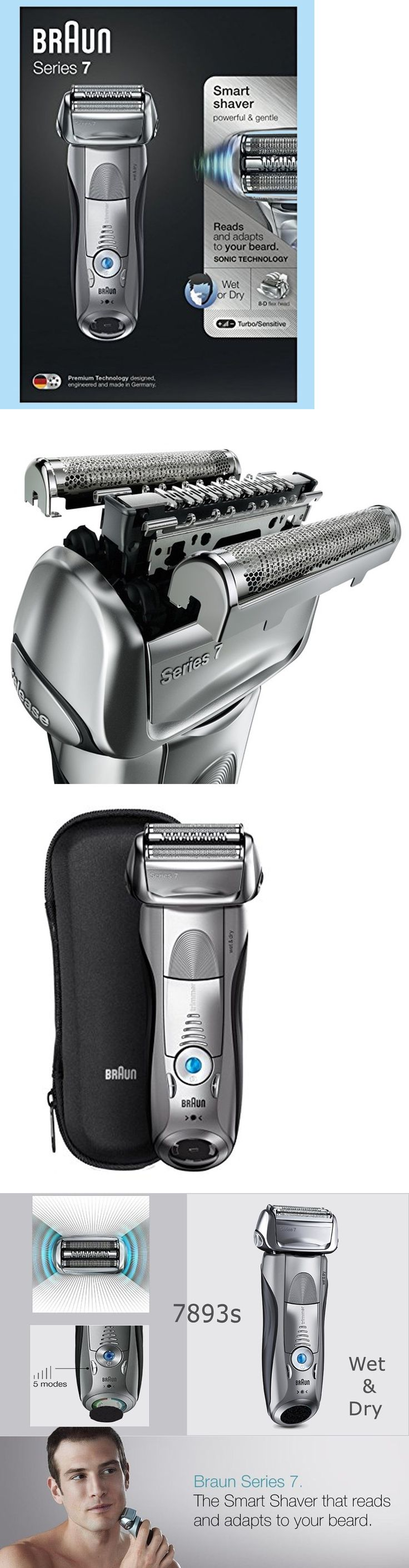 Mens Shavers: *Niob* Braun Series 7 Smart Shaver 7893S Wet And Dry Sonic Technology Case And Brush -> BUY IT NOW ONLY: $108.9 on eBay!