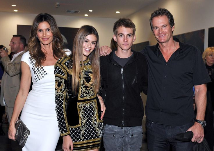 Cindy Crawford and Her Family at Becoming Book Party 2015 | POPSUGAR Celebrity