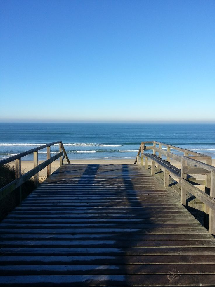 Ponton givré à Mimizan #landes #mimizan #beach