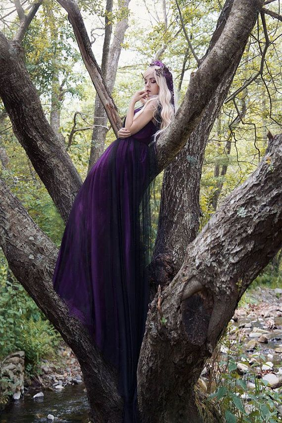 Purple and black dress in tulle convertible transformable