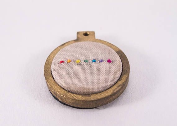 Hey, I found this really awesome Etsy listing at https://www.etsy.com/au/listing/532561364/mini-embroidery-hoop-art-with-rainbow