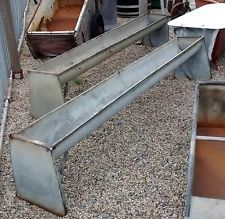 Reclaimed galvanised steel farm agricultural feeder trough planter