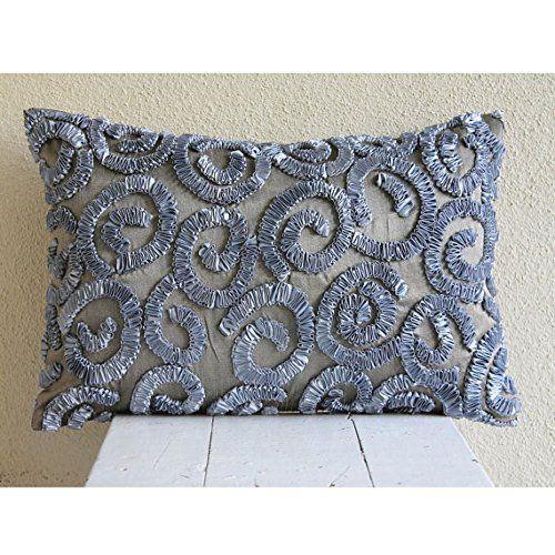 Handmade Grey Standard Pillow Shams, Ribbon Scrolls Stand... https://www.amazon.com/dp/B00VDDTUTK/ref=cm_sw_r_pi_dp_x_MnFdybQ3D6YPW