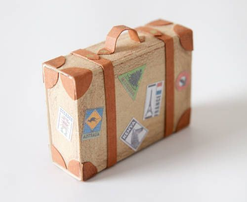 Kimble's matchbox suitcase is filled with tiny goodies!