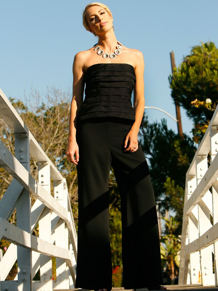 Annaborgia Lily-Bustier and Kats Pants. For Bridesmaids and beyond. Shop at https://www.annaborgia.com/shop/kats-pants/ use 'welcome2015' for 15% off