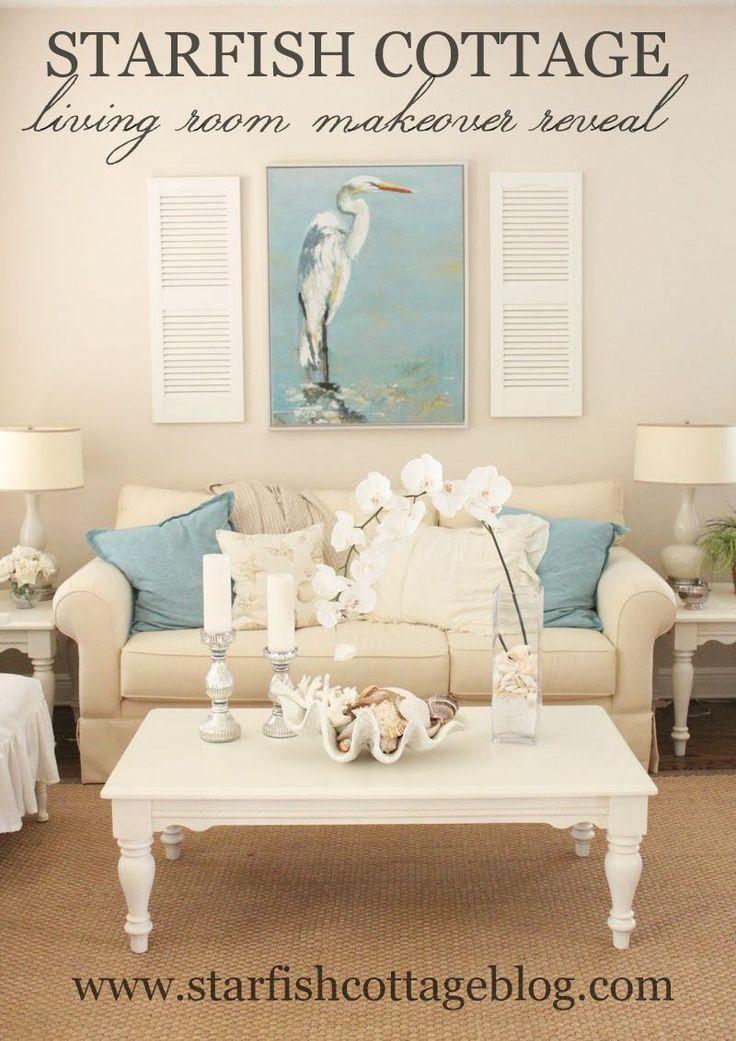 Coastal Living Room Makeover