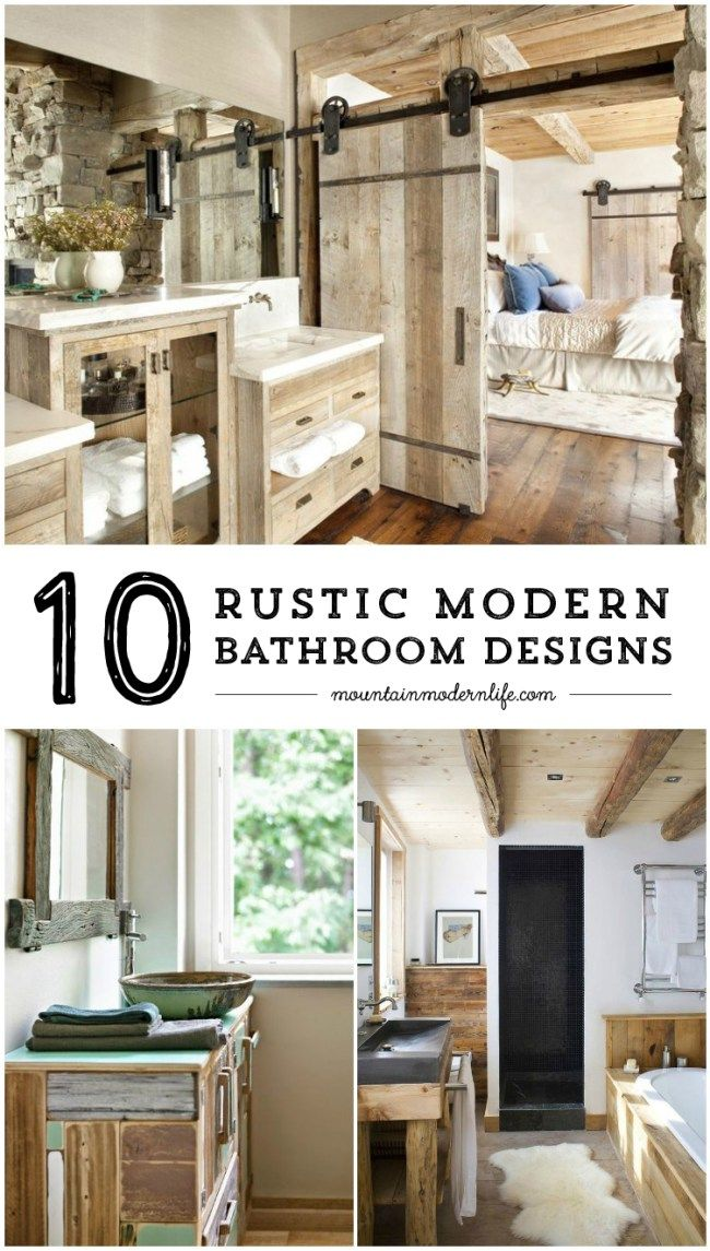 Rustic Modern Bathroom Designs Home Rustic Modern And Mountain Homes