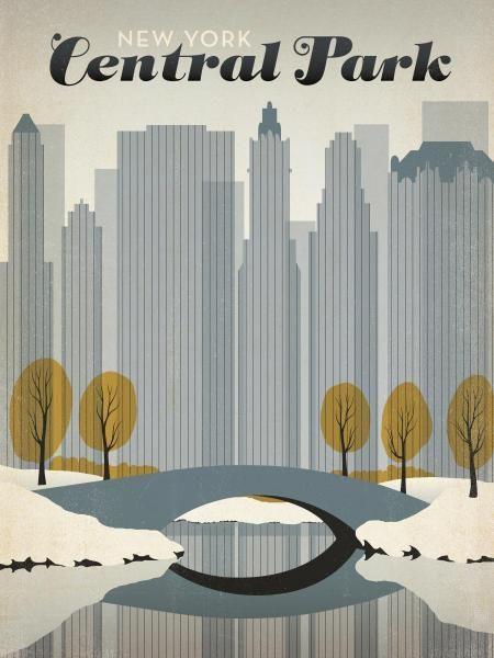 Joel Anderson retro posters New York Central Park