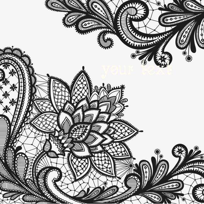 Flores De Renda O Sombreamento Peca De Decoracao Flores Png E Vector Lace Flower Tattoos Black Lace Tattoo Lace Tattoo Design