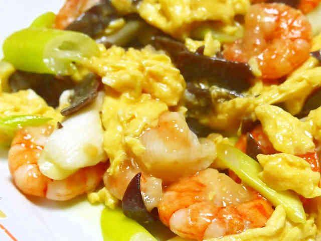 きくらげとエビとふんわり卵の中華炒めの画像