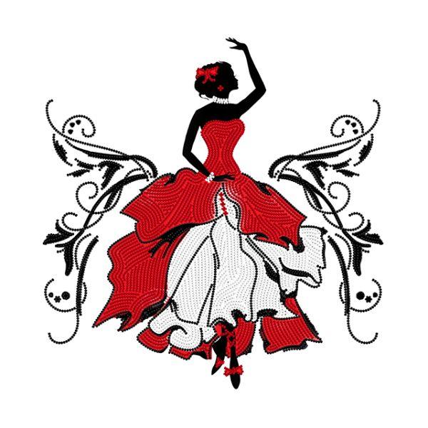 Flamenca bailando 14,50€  Descripción: Kit completo para bordar con abalorios.  Tamaño: 32*26 cm  Colores: 3  Kit contiene: Patrón impreso sobre la tela de atlas, Abalorios checos de marca Preciosa, Aguja y instrucciones fáciles.  Técnica: Punto lineal. Bordado parcial, la imagen de fondo no se borda.