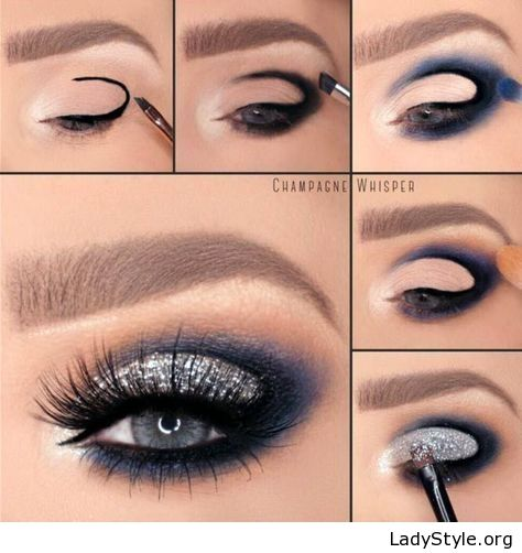 Amazing tutorial navy and black - LadyStyle