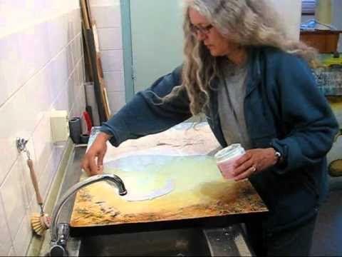 Carla van den Berg, how-to 2 -mixed media technique - YouTube
