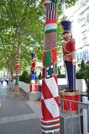 Melbourne, Australia celebrates Christmas in yarn.