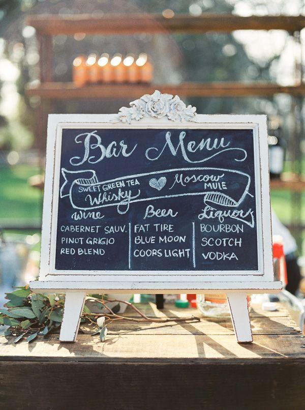 Chalkboard wedding menu #weddingmenu @weddingchicks