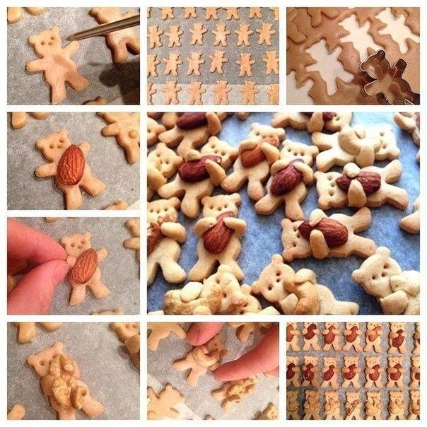 Имбирное печенье Мишки с орешками. | Colors.life