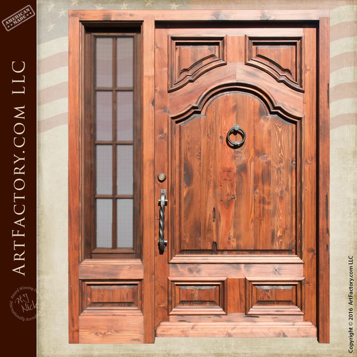 189 best images about hand crafted doors on pinterest for Wood doors with sidelights