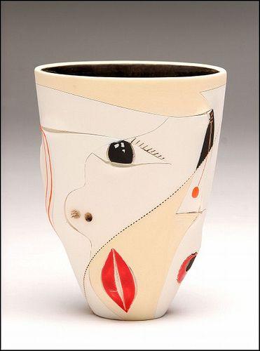 Africasso Slim conical vase