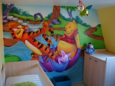 dcoration graffiti chambre enfant winnie