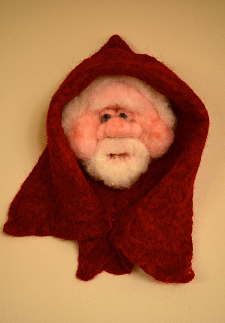 Santa wall Hanging Needle felted and wet felted by  Briege  Connolly
