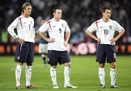 David Beckham Wayne Rooney and Michael Owen