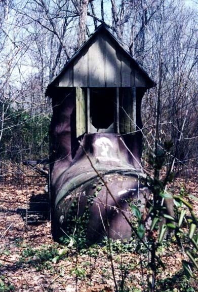 """Storybook Land - in Woodbridge, Virginia near Washington, D.C. """"The Old Woman That Lived In A Shoe""""."""