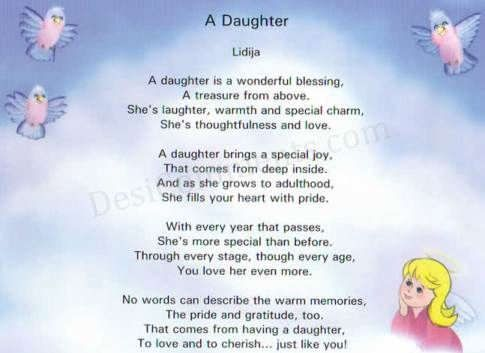 Amateur poems about baby daughters