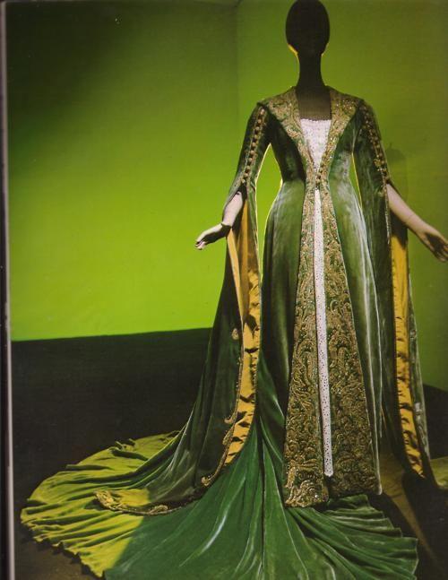 Medieval Green Velvet Overdress
