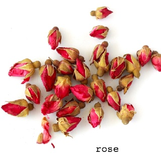 Flower Herbal Teas.  Rose.   China Rose (Rosa chinensis) - Chinese name for Rose: Yue Ji Hua 月季花 - Potential medicinal benefits of Rose Tea: relieves menstrual pain and stomach aches, improves blood circulation, strengthens immune system because of high Vitamin C.