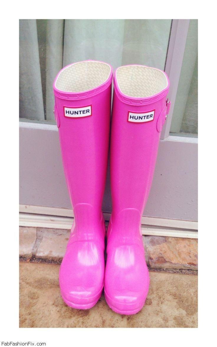 Pink Hunter boots --- Ohhh, I want. I want.