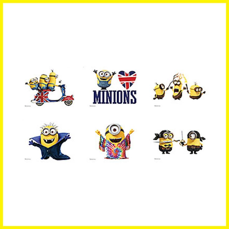 Minions Tattoos x 12 - Loot Bags - Party Favours - Birthday - Minions Movie 2015