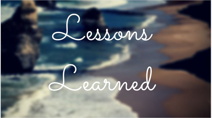 Lessons from the start - http://smartbusinessplanet.com/lessons-from-the-start/