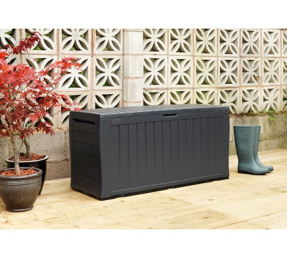 Buy Keter Wood Effect Plastic Garden Storage Box - Grey at Argos.co.uk - Your Online Shop for Garden storage boxes and cupboards, Conservatories, sheds and greenhouses, Home and garden.