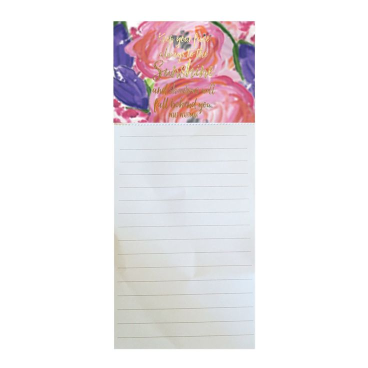 Magnetic Notepad Shadows Will Fall Behind You SHIPS 2/1