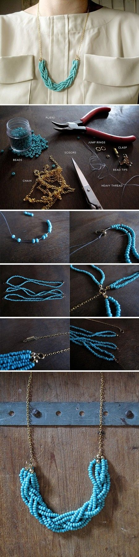 Braided bead Necklace DIY