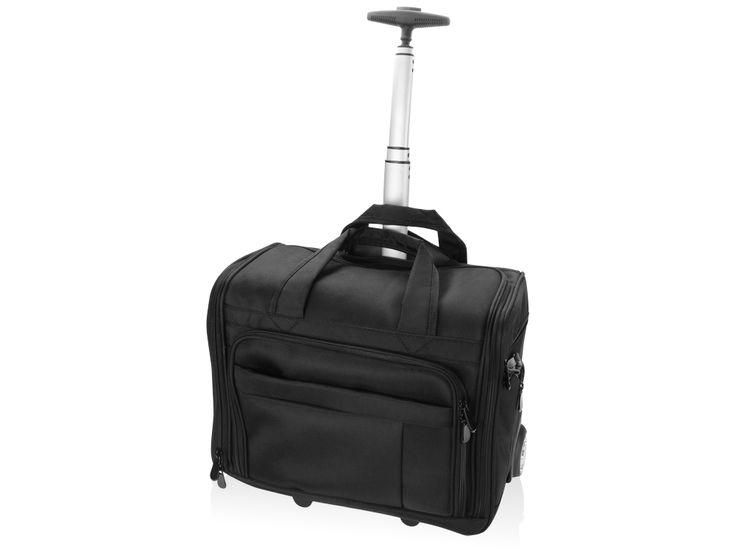 Сумка на колесах «Кенневик» Вместительная дорожная сумка на колесах имеет несколько внутренних и внешних отделений и карманов на молнии и без нее. Выдвижная ручка, выполненная из алюминия,  отличается надежностью и прочностью.