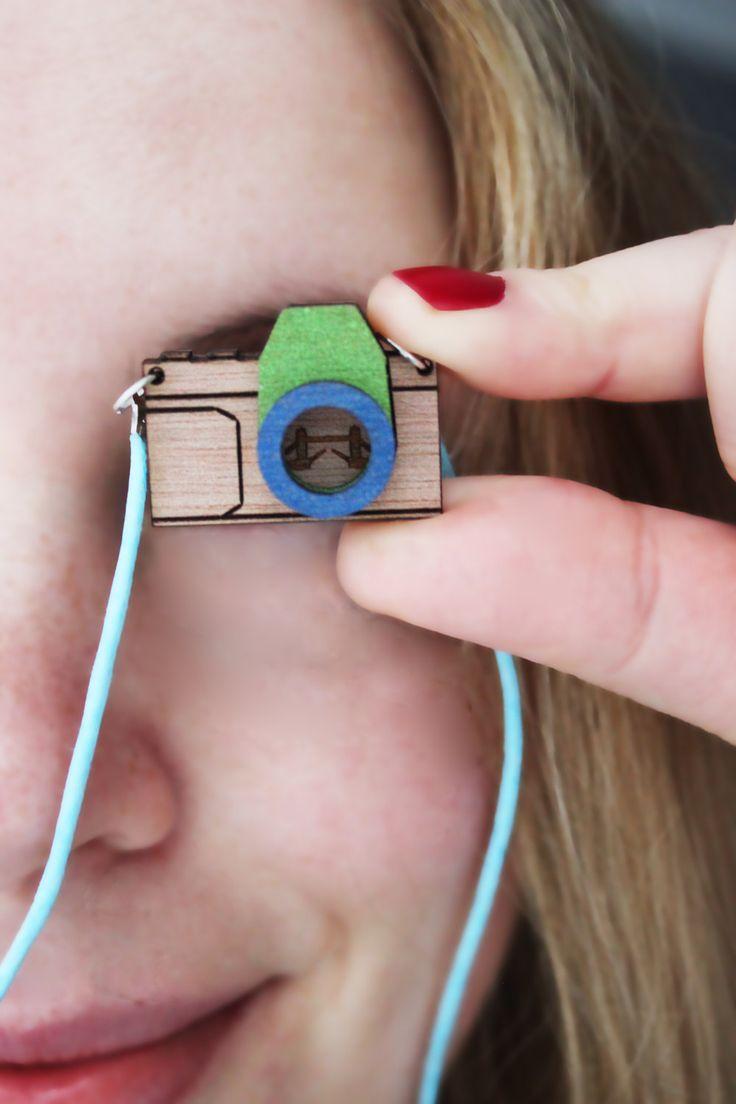 Bespoke landmark camera necklace by CutOutsProductDesign on Etsy