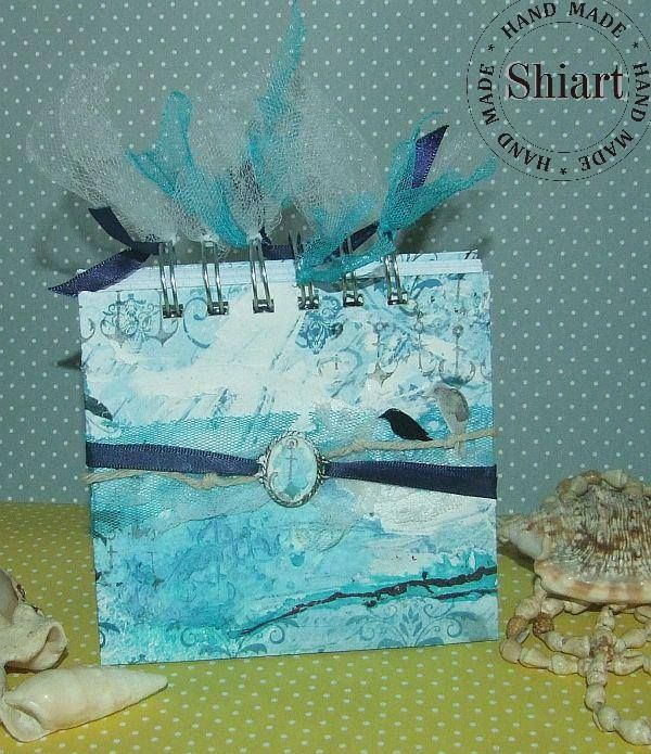 blue #notebook by Shiart with #anchors #stamp from 3rd Eye