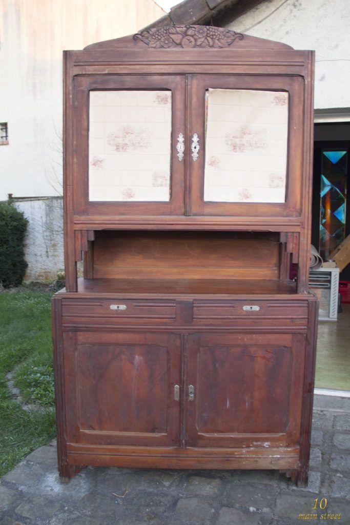 Renovation D Un Vieux Buffet Art Deco Bien Abime La Partie Basse Mobilier De Salon Renover Vieux Meuble Peinture Acrylique Murale