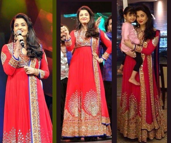 Celebrities in Indian Designer Anarkali Salwar Suits 2014 - Vega Fashion Mom