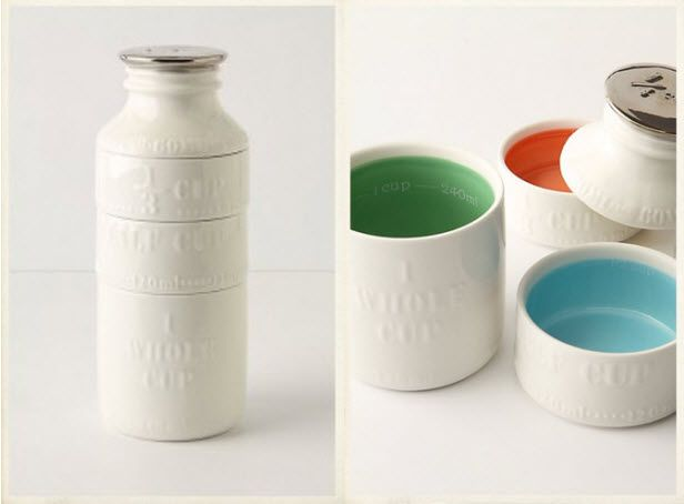 Milk Bottle Measuring Cups (http://blog.hgtv.com/design/2013/09/17/daily-delight-milk-bottle-measuring-cups/?soc=pinterest)