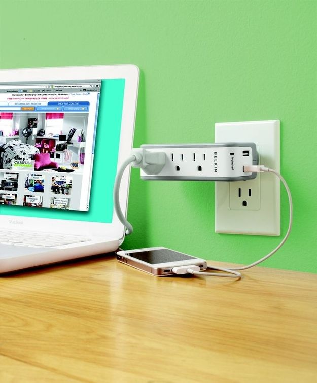 Multi-outlet surge protector with USB chargers ($29).   21 Things Every Traveler Wishes They Owned
