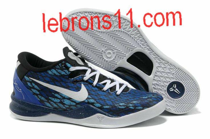 Kobe Bryant 8 Black White Royal Blue Shoes