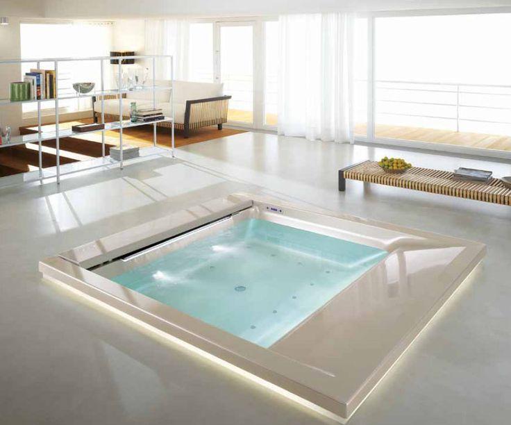 Sunken bathtubs pictures modern bathtubs teuco for Teuco baignoire