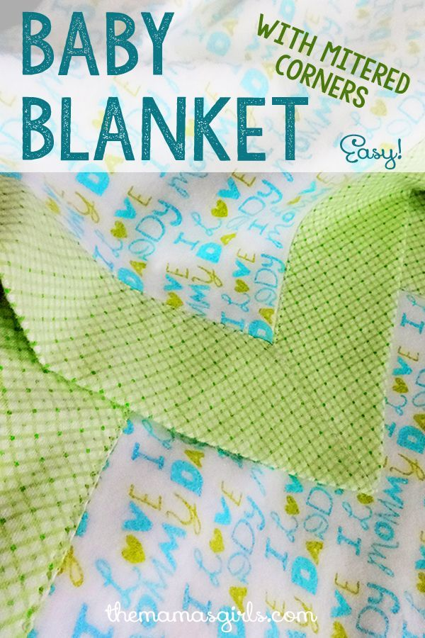 This is a fun technique to make mitered corners for Flannel Baby Blankets.